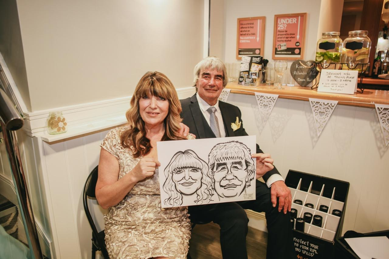 Promo South West Caricatures Caricaturist Truro, Cornwall