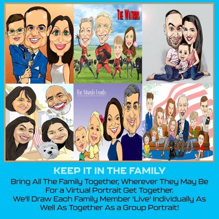 Promo Virtual Caricature Party Virtual Caricature Party Berkshire
