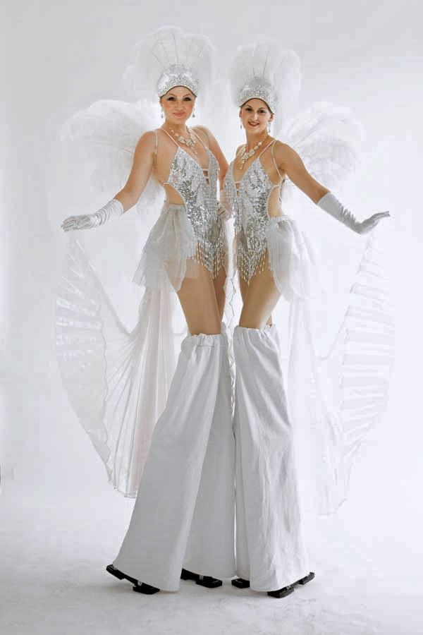 Promo Showgirl Stilt Walkers Street Performer Leicestershire