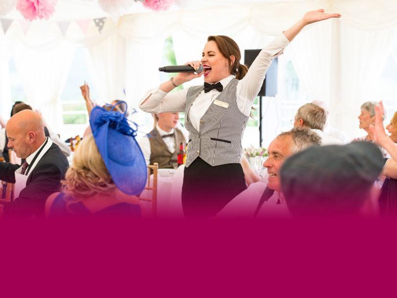 singing waiters wedding | surprise wedding singers
