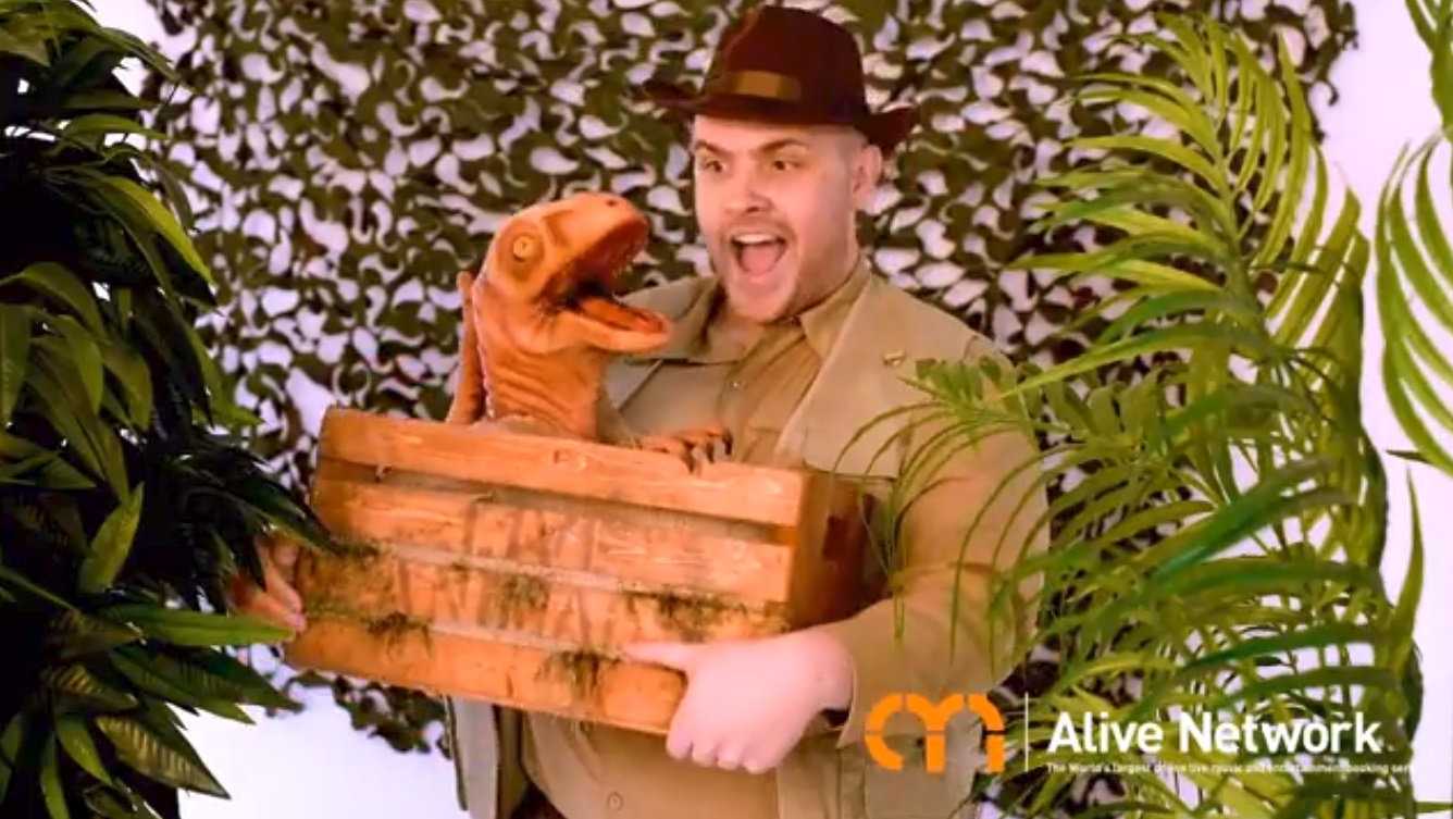 Video Dougie the Dino Mix and Mingle Entertainer Norfolk