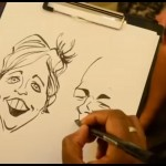 Video Draw A Crowd Caricatures Caricaturist Bedfordshire