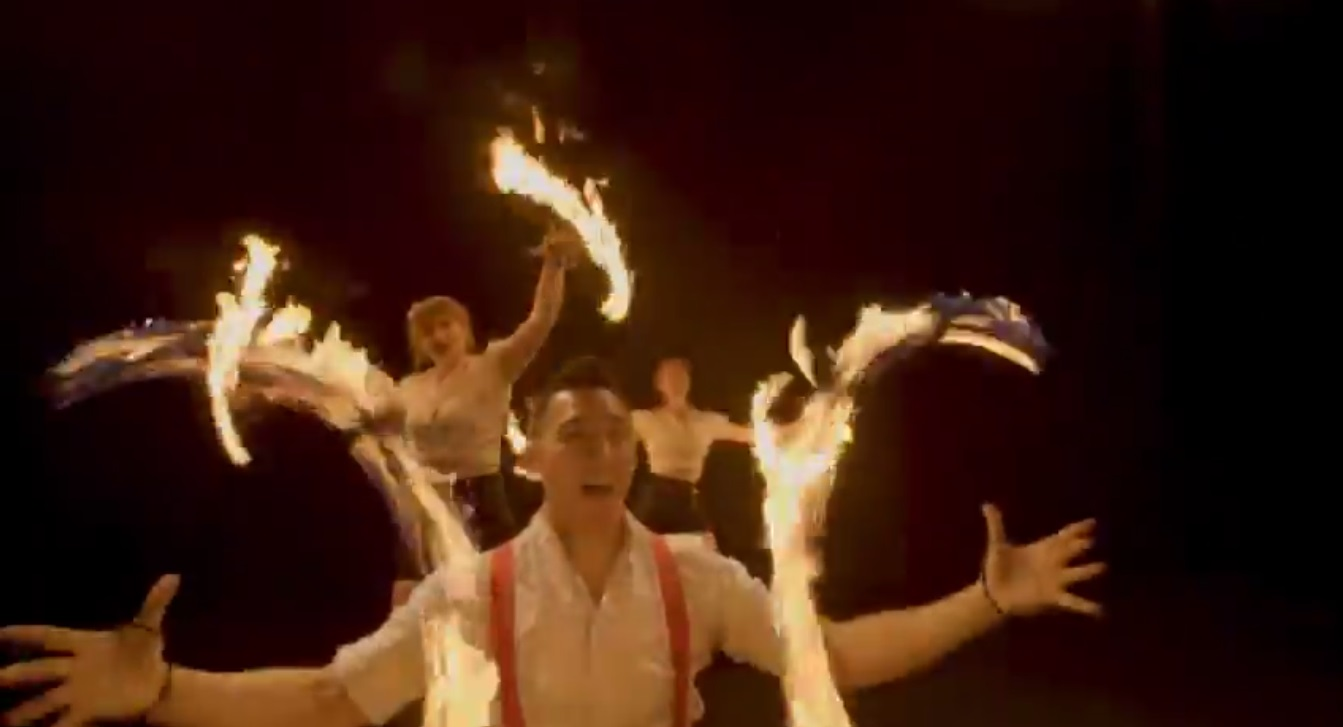 Video Fire and Glow Performers  Leicestershire