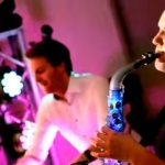 Video Light Up Your Night DJ with LED Saxophonist and Percussionist Rishworth, West Yorkshire