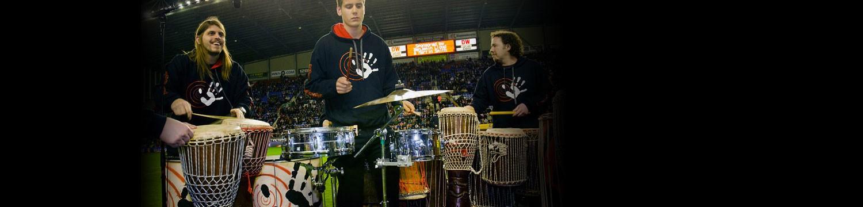 3 sticks drummers drummer ensemble nottinghamshire
