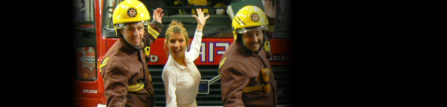 fire fighters in song singing firemen london