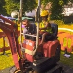 Video Mini Digger Experience Childrens Entertainer Kent