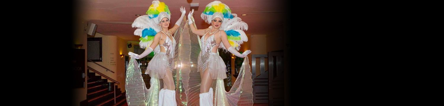 showgirl stilt walkers street performer leicestershire