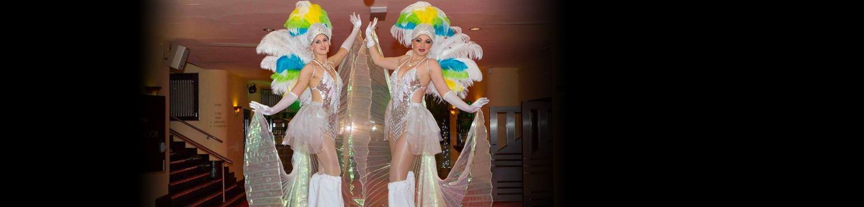 artists similar to showgirl stilt walkers