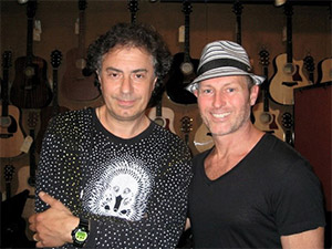 Pierre with Mark Riva at McCabes, California 2012
